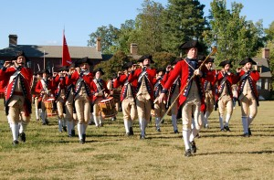 Fife and drum corps, Williamsburg, VA - taken near The Courthouse