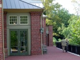 The Conference Center terrace offers a peaceful and serene setting in which to relax between lectures.
