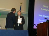 Fred Duckworth, MD, FACG, President of the VGS, presents the 2008 VGS Presidential Award to David Balaban, MD, FACG