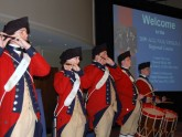 The Fife and Drum Corps traditionally opens the meeting with colonial fanfare.