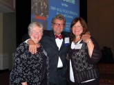 Gail DeCosta, RN, Alvin Zfass, MD, and Cynthia Taylor, CGRN share a special moment together during the 2009 meeting
