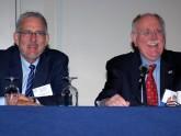 ACG President Philip Katz, M.D., FACG and past AGA President David Peura, M.D., MACG