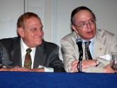 Jamie Barkin, MD and David Johnson, MD participate in a panel discussion