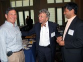 Alan Gamsey, MD, FACG, Alvin Zfass, MD, MACG, and Pramod Malik, MD, FACG catch up in between sessions