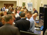 The exhibit hall during breaks is a lively area for meeting up with colleagues and sharing ideas on the latest therapeutics and technology in the field of gastroenterology. Twenty-three exhibitors participated in the 2010 course.
