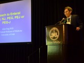 Dr. John Fang, division chief at University of Utah, presents his talk on enteral nutrition.