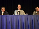 The liver disease panel discussion provides a lighter moment.