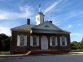 Built in 1771, the Courthouse was the county court. Sentences were often immediate and public—carried out at the stocks and pillory out front.